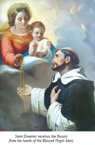 Saint-Dominic and the Rosary
