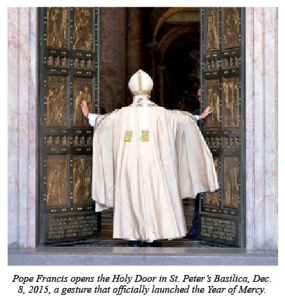 Pope Francis opens the Holy Door