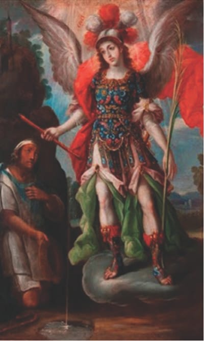 St. Michael appearing to Diego Lázaro