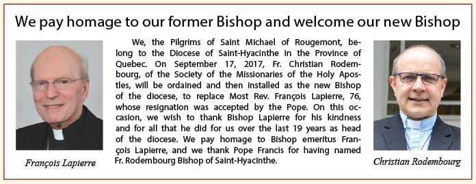 Homage to former and new bishop