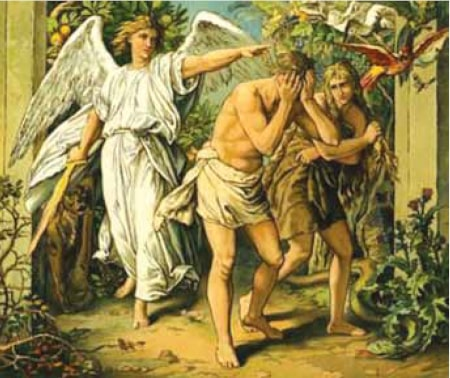 Adam and Eve casted out of the Garden of Eden